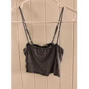 WOMENS CHECKERED CROP TOP